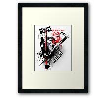 American Werewolf Polka Trash Framed Print