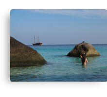 View of a Mermaid Canvas Print