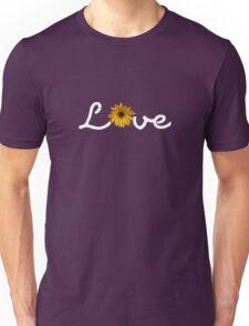 Love with flowers - White Unisex T-Shirt