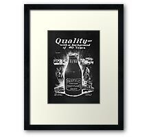 Fairfield Maryland Milk Bottle Framed Print
