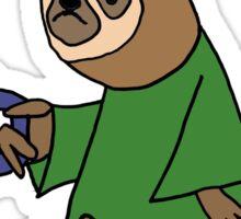 Funny I Hate Mornings Sloth Cartoon Sticker