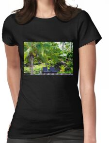 Beautiful tropical landscape Womens Fitted T-Shirt