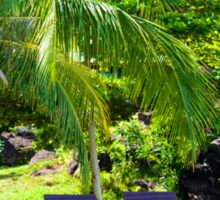 Beautiful tropical landscape Sticker