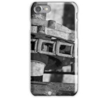John Deere Tractor Parts BW iPhone Case/Skin