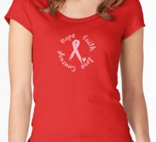 Courage, Hope, Faith, Love Women's Fitted Scoop T-Shirt