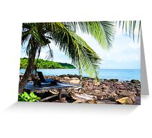 Beautiful tropical landscape Greeting Card