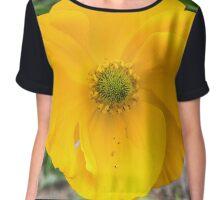 Single Yellow Flower Chiffon Top