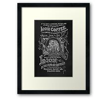 Lion Coffee Framed Print