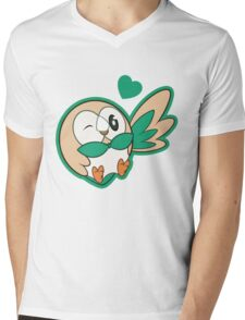 ROWLET Mens V-Neck T-Shirt
