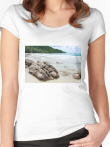 Beautiful tropical beach Women's Fitted Scoop T-Shirt