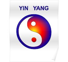 Yin Yang icon with text Poster