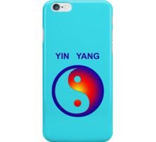 Yin Yang icon with text iPhone Case/Skin