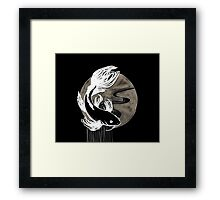 Koi Ink Black Framed Print