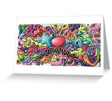 Kenny Scharf Wynwood Graffiti Wall Greeting Card