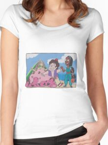 Steven Universe Trick or Treat Women's Fitted Scoop T-Shirt