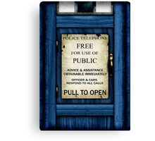 Free For Use Of Public - Tardis Door Sign - iPad Case Canvas Print