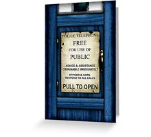 Free For Use Of Public - Tardis Door Sign - iPad Case Greeting Card