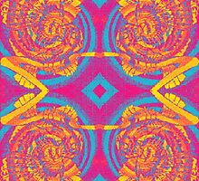 KALEIDOSCOPIC INFRARED TAWNY OWL DESIGN by Seacookie1