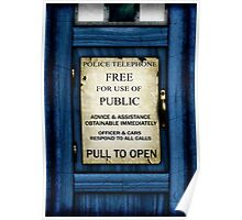 Free For Use Of Public - Tardis Door Sign - (please see notes) Poster