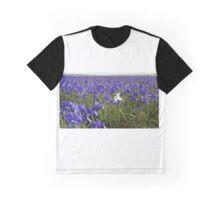 One White Iris Graphic T-Shirt