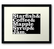 Starfish & Coffee Prince Framed Print