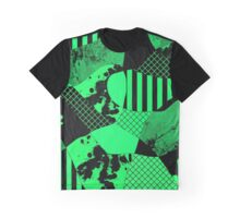 Abstract Green And Black Graphic T-Shirt