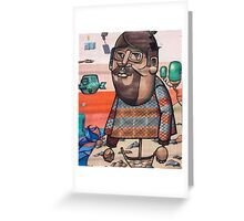 Hipster Graffiti Wall Greeting Card