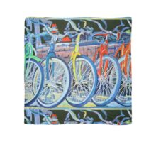 The Bicycle Shop, Bikes in a Row, Bicycle Picture Scarf
