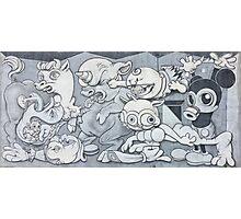 English Mickey Graffiti Wall Photographic Print