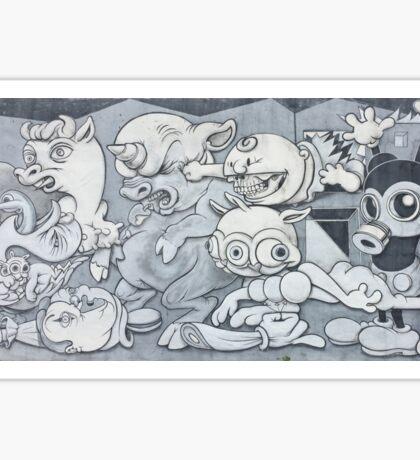 English Mickey Graffiti Wall Sticker