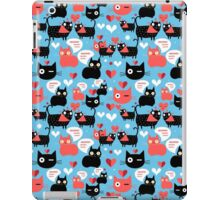 Graphic pattern with lovers cats iPad Case/Skin