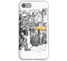 riot cops study iPhone Case/Skin