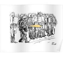 riot cops study Poster
