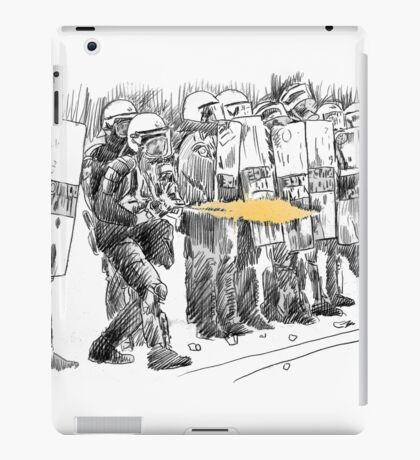 riot cops study iPad Case/Skin