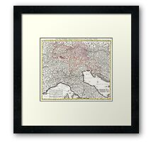 Vintage Map of Northern Italy (1720)  Framed Print