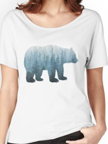 Misty Forest Bear - Turquoise Women's Relaxed Fit T-Shirt