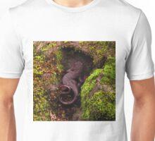 California Newt on a mossy rock Unisex T-Shirt