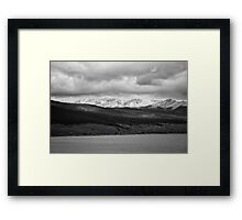 Taylor Reservoir #1 (Black and White) Framed Print