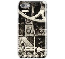 Steam Engine Parts Vintage BW iPhone Case/Skin