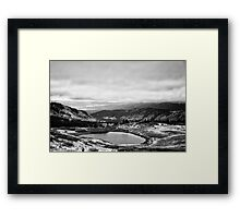 Cottonwood Pass #3 (Black and White) Framed Print
