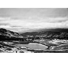 Cottonwood Pass #3 (Black and White) Photographic Print