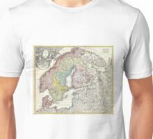 Vintage Map of Scandinavia (1730)  Unisex T-Shirt
