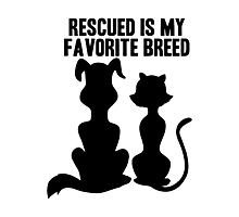 RESCUED IS MY FAVORITE BREED Photographic Print