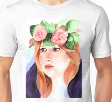 Girl with flower crown Unisex T-Shirt
