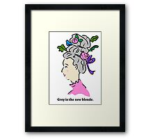 Grey Hair is the New Blonde Framed Print