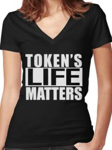 Tokens Life Matters Women's Fitted V-Neck T-Shirt