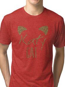 KatyCat Golden Glitter Tri-blend T-Shirt