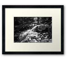 Duck Creek (in Black and White) Framed Print