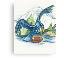 Mount Rainer and the Seahawk Canvas Print