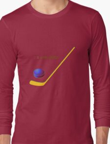 Hockey the cool sport Long Sleeve T-Shirt
